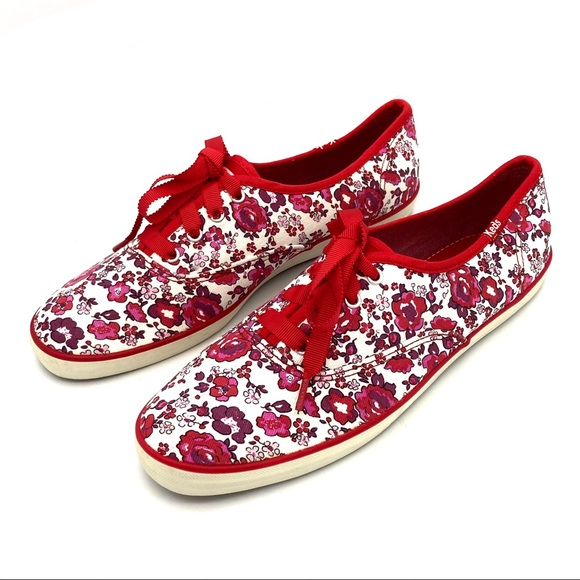 Keds Champion Floral Lace Sneakers Ribbon Laces
